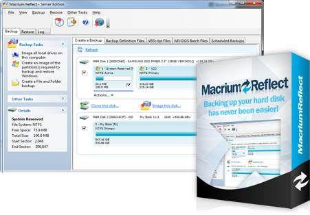 The v6 of Reflect software includes image-based backup capabilities ...