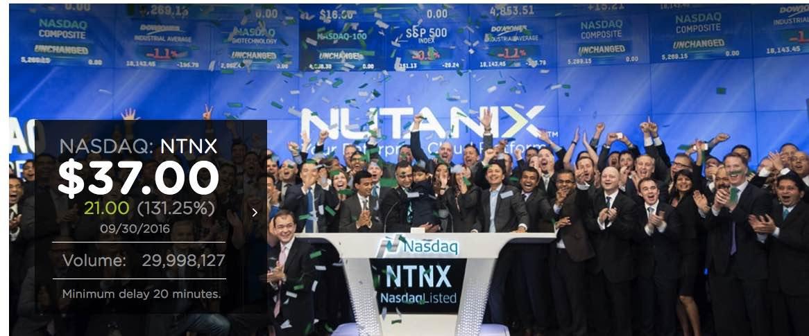 Nutanix stock options