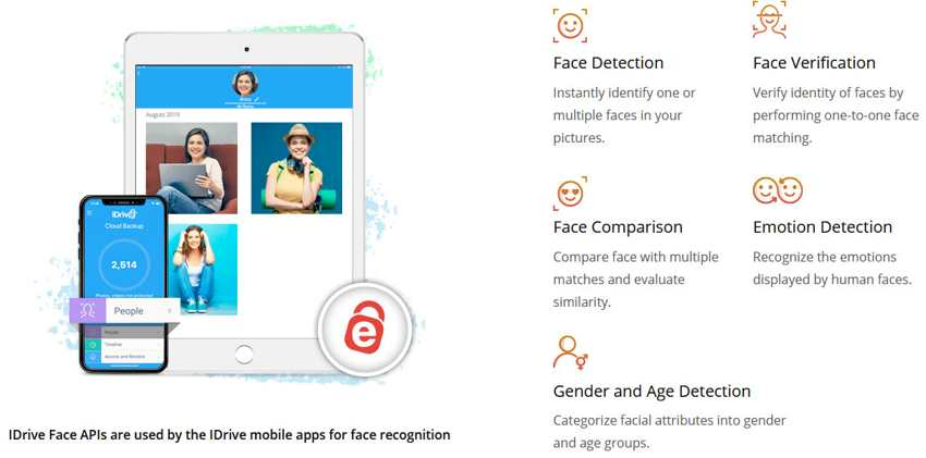 For Developers and Businesses, IDrive Face to Build Facial