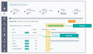 Igneous Datadiscover Search Screen