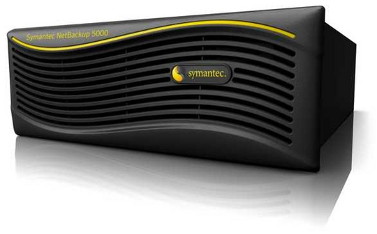 Symantec in Hardware With NetBackup 5000 De-Dupe Appliance